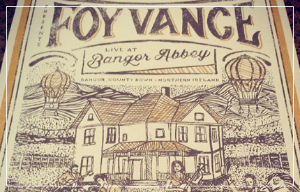 'I'm not going to write about his songs, I can't. 'To write of music is to dance about architecture...' Or something like that.' I'm going to write about the man.' Hilary McEwan on Foy Vance...